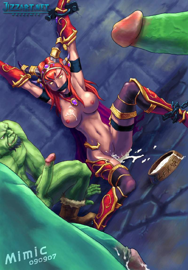 Hentai games night elf orc sex movie