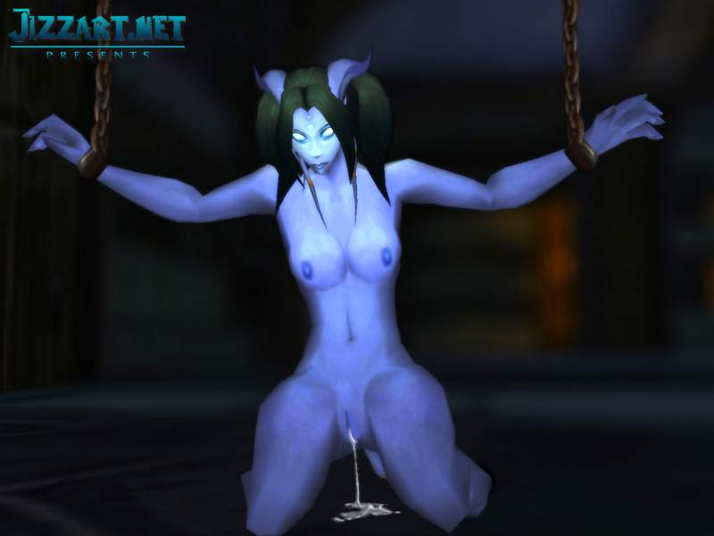 Naked night elf sucking penis