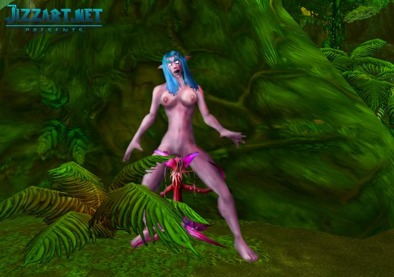 3d WoW blood elf porn