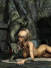Monster fuck World of Warcraft girl