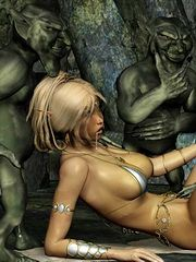 Elf woman fantasy nude