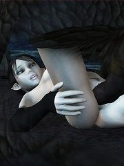 Naked female blood elf in WoW having sex