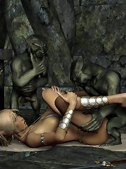 Women sucking boobs by elf men
