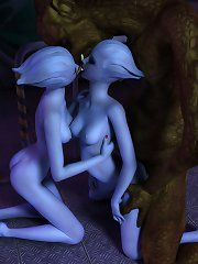 Naked night elf girl