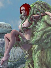 Elf Lady Sylvanas nude comic